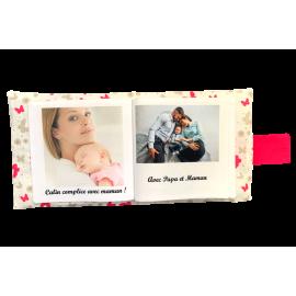 Livre photo tissu personnalisé Papillons, album photo tissu pour bébé, livre doudou *******