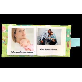 Livre photo tissu personnalisé Animaux de la Ferme, album photo tissu pour bébé, livre doudou *******