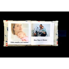 Livre photo tissu personnalisé Maritime, album photo tissu pour bébé, livre doudou *******
