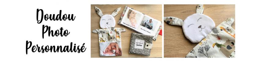 Doudou Photo Personnalisé cadeau original bébé enfant